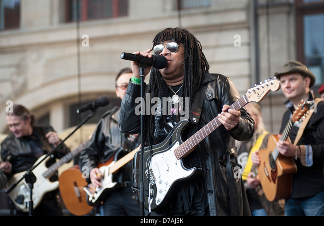 Niki Buzz performing at the Thanks Jimi Festival in Wroclaw, Poland. - Stock Image