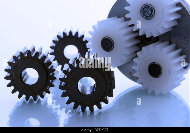 Cogwheels of a planetary gear - Stock Image