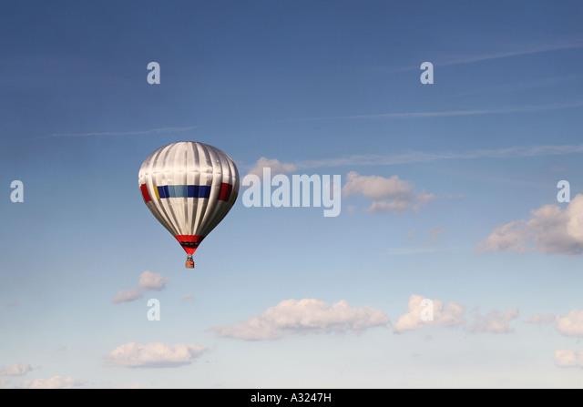 silver hot air balloon - Stock Image