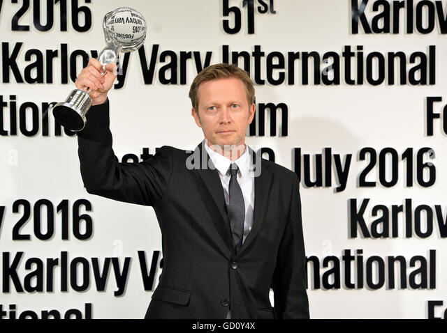 Karlovy Vary, Czech Republic. 09th July, 2016. Slovenian director Damjan Kozole received award for directing the - Stock-Bilder