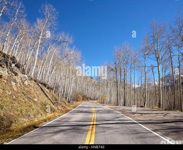Scenic road, travel concept picture, Colorado, USA. - Stock-Bilder