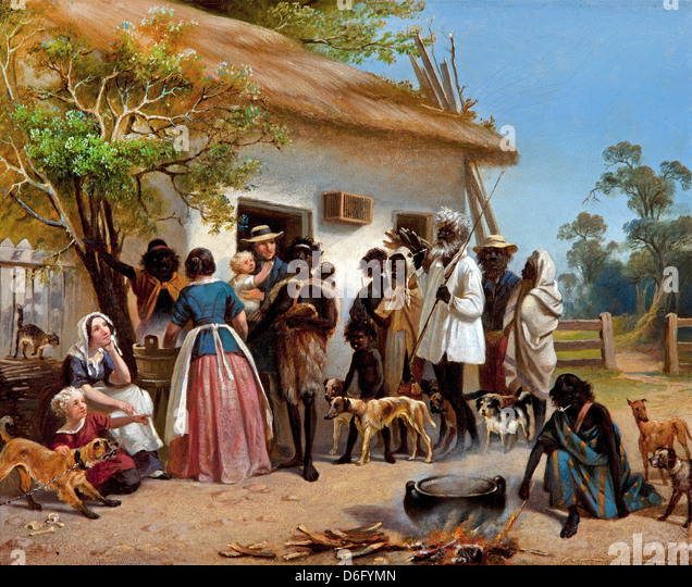 Alexander Schramm, A scene in South Australia 1850 Oil on canvas. Art Gallery of South Australia, Adelaide - Stock-Bilder