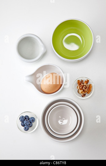 small portions of snack  healthy foods - Stock Image