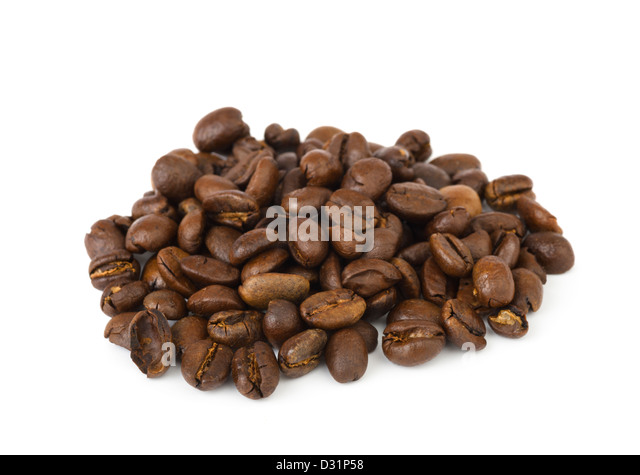 Dried coffee beans - Stock Image