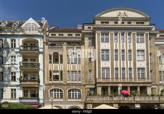 Historic building, Paul Lincke Ufer, Landwehrkanal, Kreuzberg, Berlin - Stock Image
