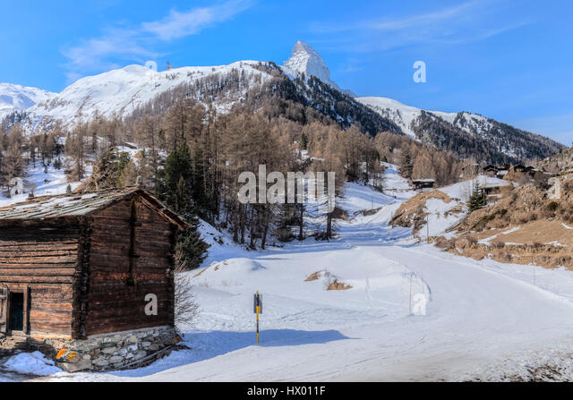 Blatten, Matterhorn, Zermatt, Valais, Switzerland, Europe - Stock-Bilder