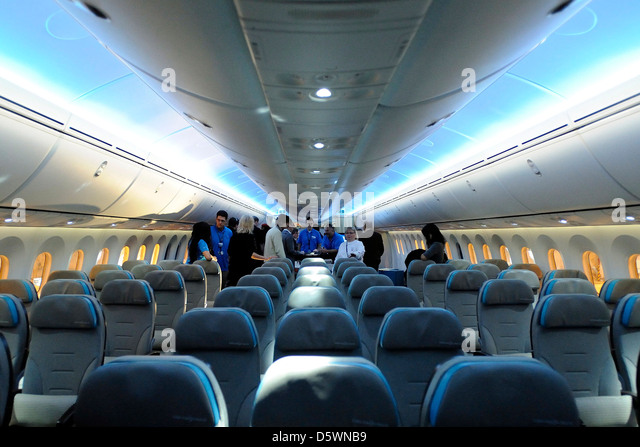 Boeing 787 Dreamliner Interior Stock Photos Amp Boeing 787