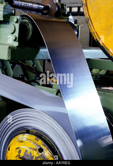 Ironworks Steel and Iron Production Factory Industry Strip Rolling Mill - Stock Image