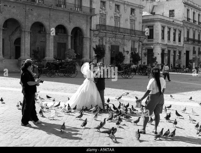 Cuban Wedding in Havana Cuba - Stock Image