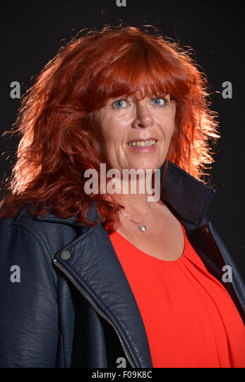 Portrait of middle-aged woman with red hair, Hounslow, Greater London, England, United Kingdom - Stock Image