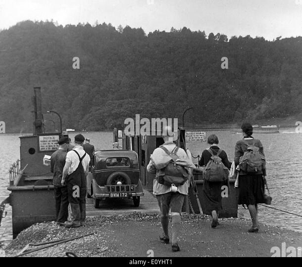 Windermere Ferry probably 1940s - Stock Image