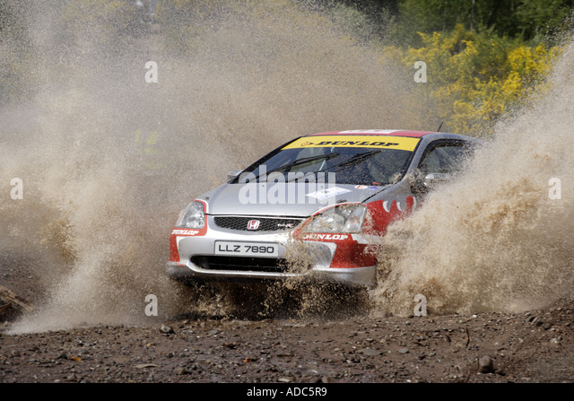 Motor Sport Rallying - Stock Image