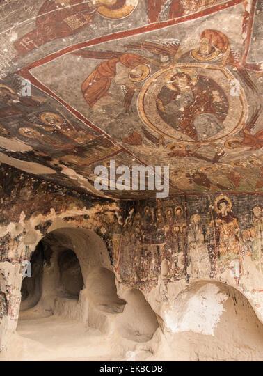 St. Georges Church (Kirk Dam Alti Kilise), Belisirma, Ihlara, western Cappadocia, Anatolia, Turkey, Asia Minor, - Stock Image