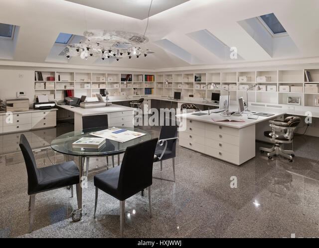 architectural Bureau, firma, office, interior, bureau, design, working place, moscow, mansard, working conditions, - Stock Image
