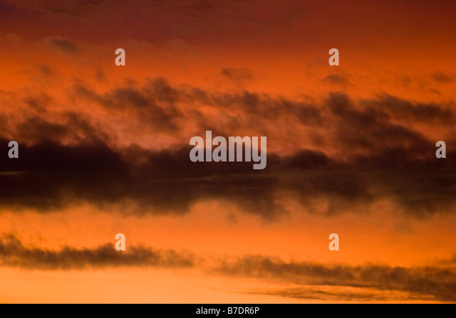 Storm clouds at dusk South Africa - Stock Image