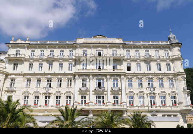 Grand Hotel Pupp, Karlovy Vary, Czech Republic - Stock-Bilder