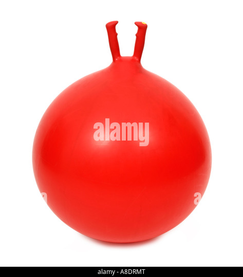 Red space hopper - Stock Image