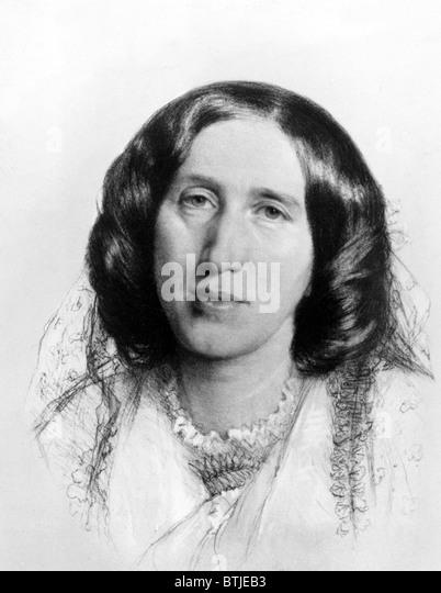 GEORGE ELIOT,  1864. - Stock Image