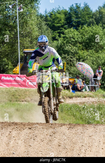Motocross Kleinhau - 1st heat Veterans DAM Meisterschaft - 27th of May 2017 - Kleinhau, Hürtgen, North Rhine - Stock Image
