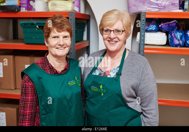 Trussell Trust food bank in St George's Church in Little Chalfont - Stock Image