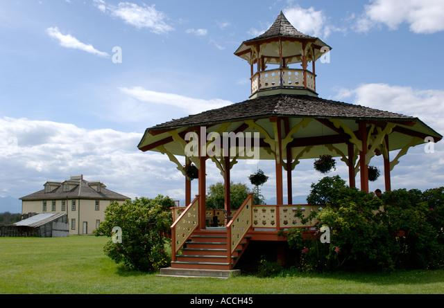 Gazibo in Fort Steele near Cranbrook Kootenay British Columbia Canada - Stock Image