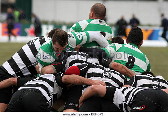 scrummage'treviso 06-01-2009 'rugby super 10 2008-2009 championship'benetton treviso-rugby roma 'photo andrea spinelli/markanews - Stock Image