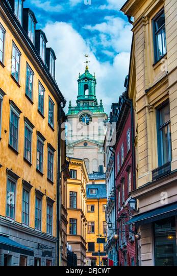 Stockholm, Sweden alley. - Stock Image