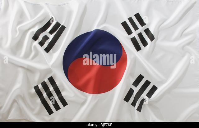 south korean flag - Stock Image