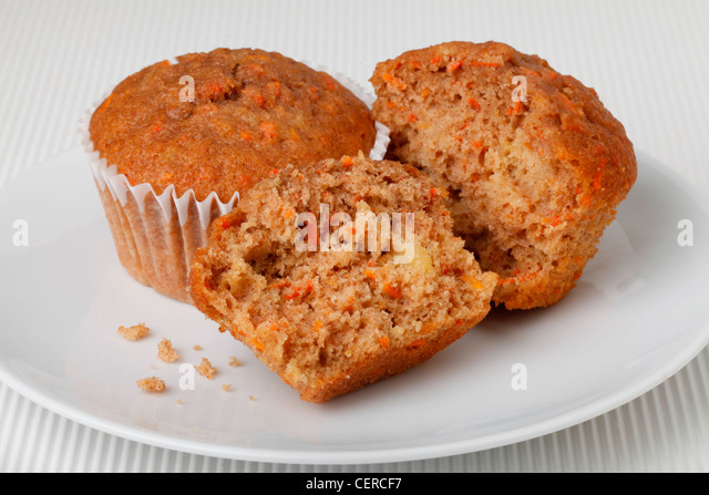 CARROT CAKE MUFFINS - Stock Image