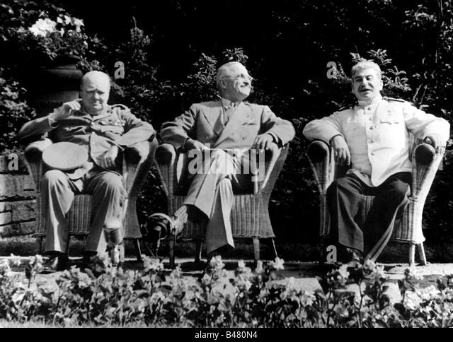 events, Second World War / WWII, conferences, Potsdam Conference 17.7.1945 - 2.8.1945, Joseph Winston Churchill, - Stock Image