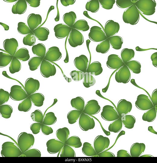 clover pattern - Stock Image