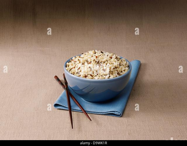 brown rice bowl - Stock Image