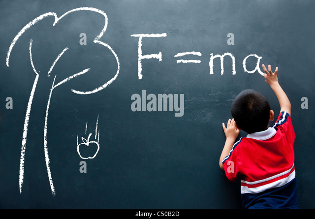 Newton Second Law - Stock Image