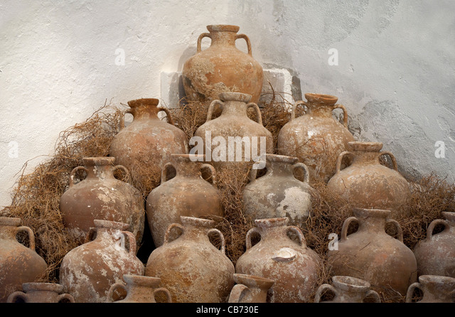 Amphora in Bodrum Underwater Archeology Museum Turkey - Stock Image