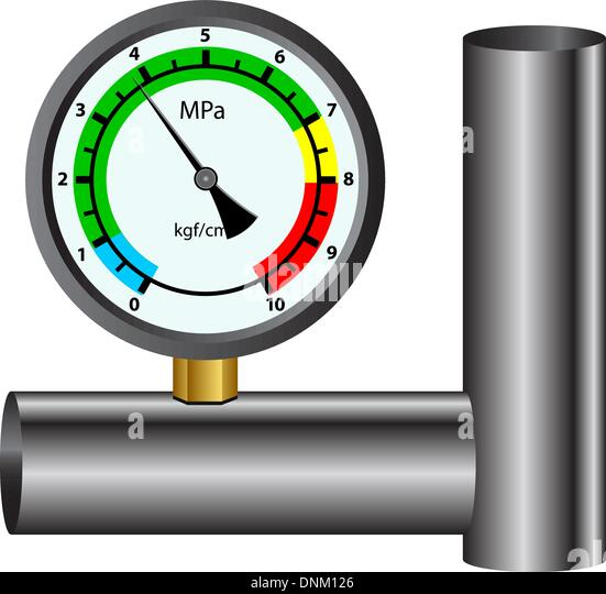 gas manometer isolated on white background - Stock-Bilder