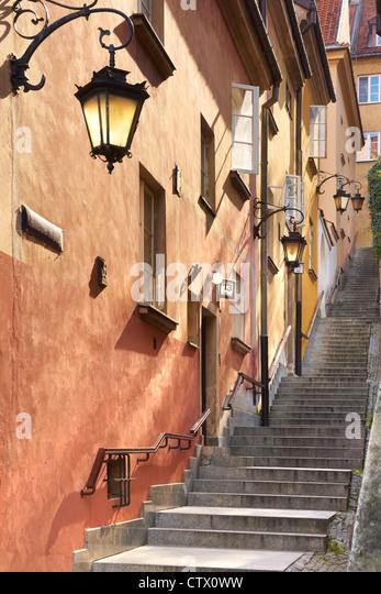 Warsaw Old Town, Poland - Stock-Bilder