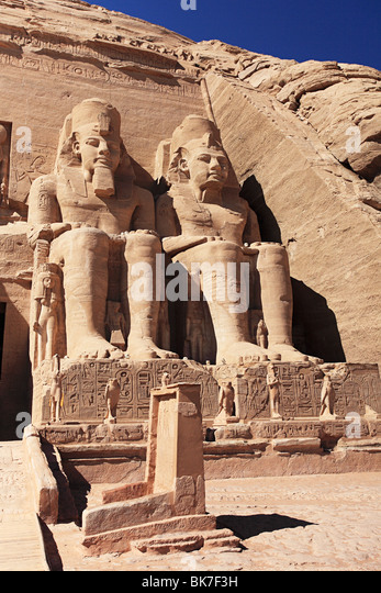 Abu simbel temple egypt - Stock Image