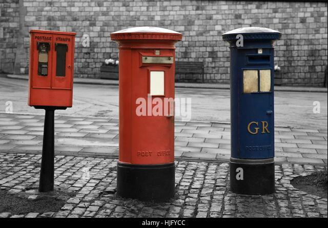 London old post box, England - Stock Image