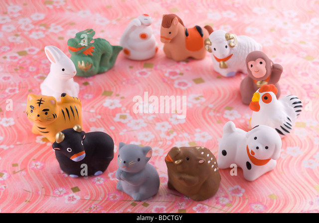 Japanese zodiac ornament - Stock Image