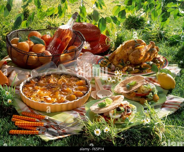 picnic lunch - Stock Image