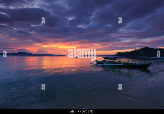 Philippines, Palawan, Port Barton - Stock Image