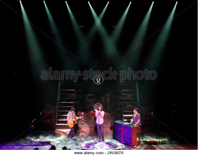 Mark David Lee, Mac Powell and Scotty Wilbanks. Christian rock band Third Day made a stop on their Miracle Tour - Stock Image