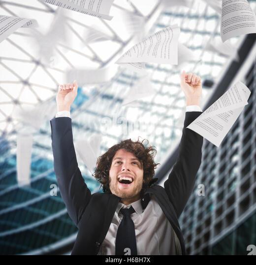 Cheer for job satisfaction - Stock Image