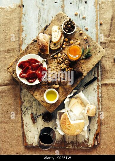 Lush Spanish food - Stock Image