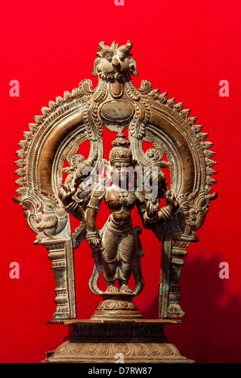 Hindu God Vishnu deity , supreme soul, the creator and destroyer of all existences - Stock Image