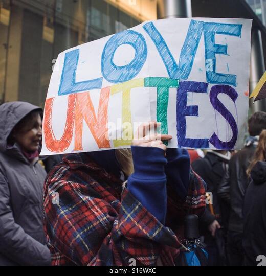 Anti-Trump Protest, Toronto, Canada, November 19, 2016 - Stock-Bilder