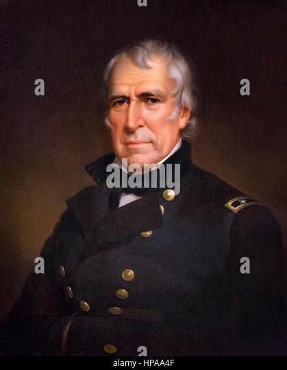 Zachary Taylor. Portrait of the 12th US President Zachary Taylor (1784-1850) by James Reid Lambdin, oil on canvas, - Stock-Bilder