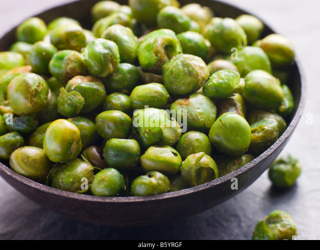 Dried Curry Spiced Peas - Stock Image