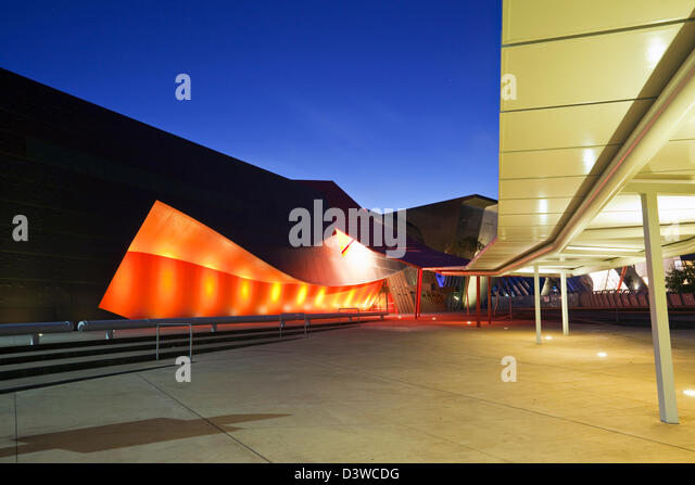 Architecture of the entrance to National Museum of Australia. Canberra, Australian Capital Territory (ACT), Australia - Stock Image