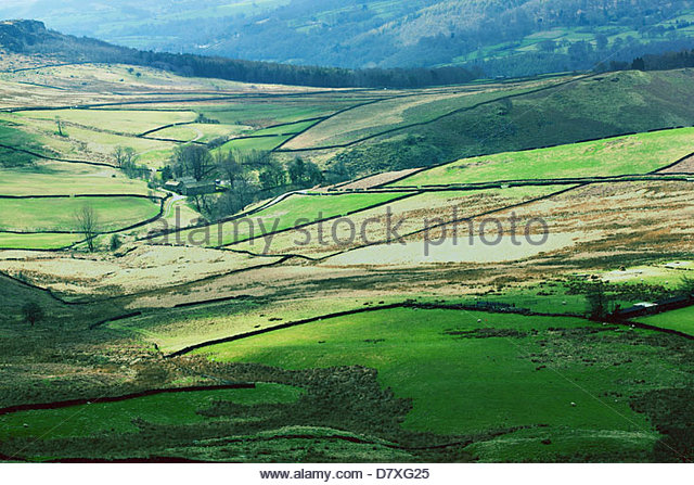countryside derbyshire - Stock Image